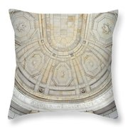 Beneath This Marble Ceiling Throw Pillow