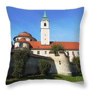 Benedictine Abbey Throw Pillow