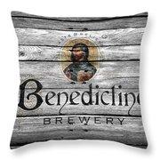 Benedictine Brewery Throw Pillow