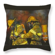 Benevolent Warriors Throw Pillow