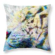 Bengal Explosion Throw Pillow