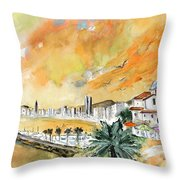 Benidorm Old Town Throw Pillow