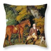 Benjamin Bond Hopkins, Before 1791 Throw Pillow