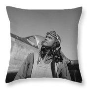 Benjamin Davis - Ww2 Tuskegee Airmen Throw Pillow