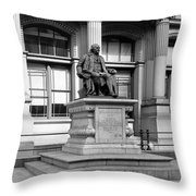 Benjamin Franklin Statue Philadelphia Throw Pillow