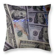 Benjamins New And Old Throw Pillow
