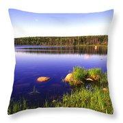 Benjies Lake Cape Breton Island Throw Pillow