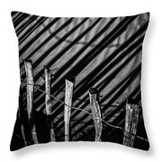 Benone - Shadow Fencing Throw Pillow