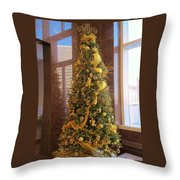 Benson Towers - Fleur De Lis Tree - New Orleans La Throw Pillow