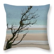 Bent In The Wind Throw Pillow