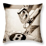 Bentley Hood Ornament - Emblem Throw Pillow