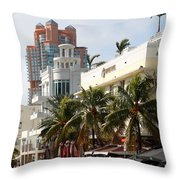 Bentley Hotel Miami Throw Pillow