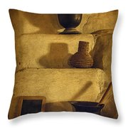 Bent's Old Fort Kitchen Fireplace Throw Pillow