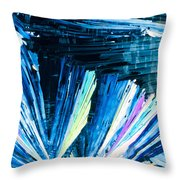 Benzoic Acid Microcrystals Color Abstract Throw Pillow