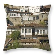 Berat Old Town In Albania Throw Pillow
