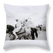 Berber Horsemen Throw Pillow