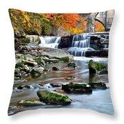Berea Falls Ohio Throw Pillow