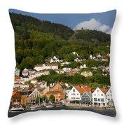 Bergen Harbor Throw Pillow