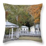 Berkeley Springs Bandstand In West Virginia Throw Pillow