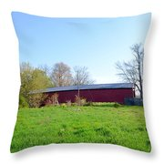 Berks County - Griesemer's Covered Bridge Throw Pillow