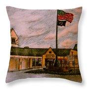 Berks County Jail Main Entrance Throw Pillow
