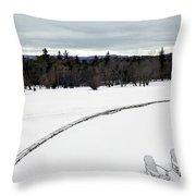 Berkshires Winter 2 - Massachusetts Throw Pillow