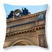 Berlin Anhalter Bahnhof Ruin Throw Pillow