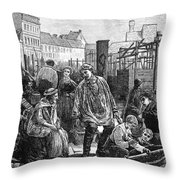 Berlin Fish Market, 1874 Throw Pillow