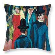 Berlin Street Scene Throw Pillow