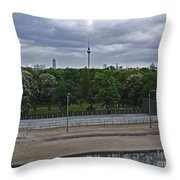Berlin Wall No Man's Land Throw Pillow