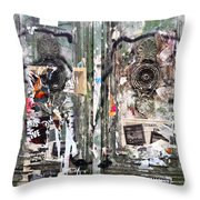 Berlin Walls-green Doors Throw Pillow