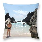 Bermuda Bikini Throw Pillow