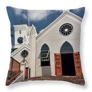 Bermuda Church Throw Pillow