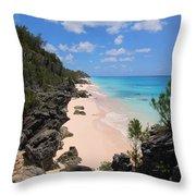 Bermuda Cliffside Throw Pillow