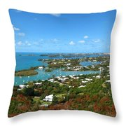 Bermuda From Gibbs Hill Lighthouse Throw Pillow