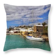Bermuda St George Harbour Throw Pillow by Charline Xia