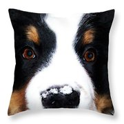 Bernese Mountain Dog - Baby It's Cold Outside Throw Pillow