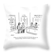 Bernie Sanders's Birthplace Throw Pillow