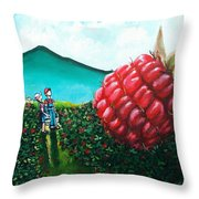Berried Alive Throw Pillow