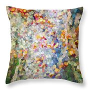 Berries Around The Tree - Abstract Art Throw Pillow