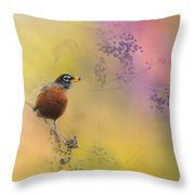 Berries In The Woods Throw Pillow