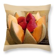 Berry Bowl Throw Pillow
