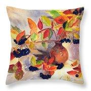 Berry Harvest Still Life Throw Pillow