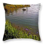 Berry Hill Pond In Gros Morne Np-nl Throw Pillow