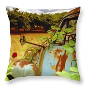 Berry Old Truck 2 Throw Pillow