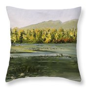 Berry Pond Throw Pillow