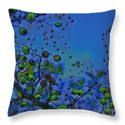 Berry Sky Magic By Jrr Throw Pillow