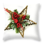 Berry Star Throw Pillow