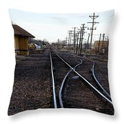 Berthoud R R Station Throw Pillow