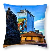 Berthoud Station Throw Pillow